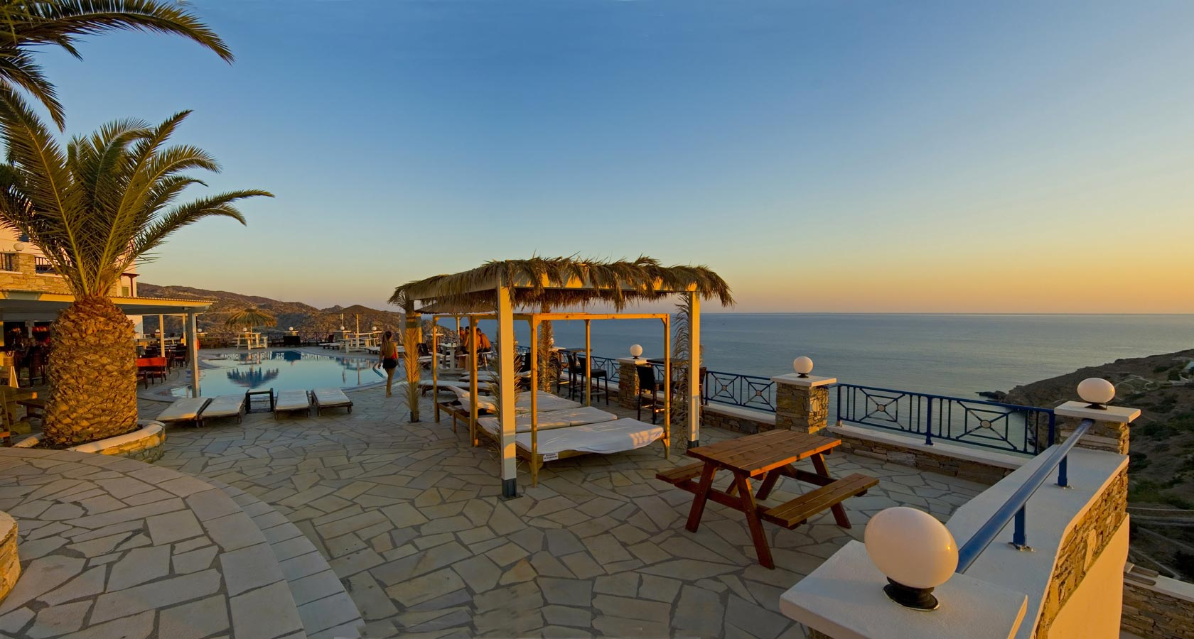 The Sea View of Hermes Hotel in Ios island Greece