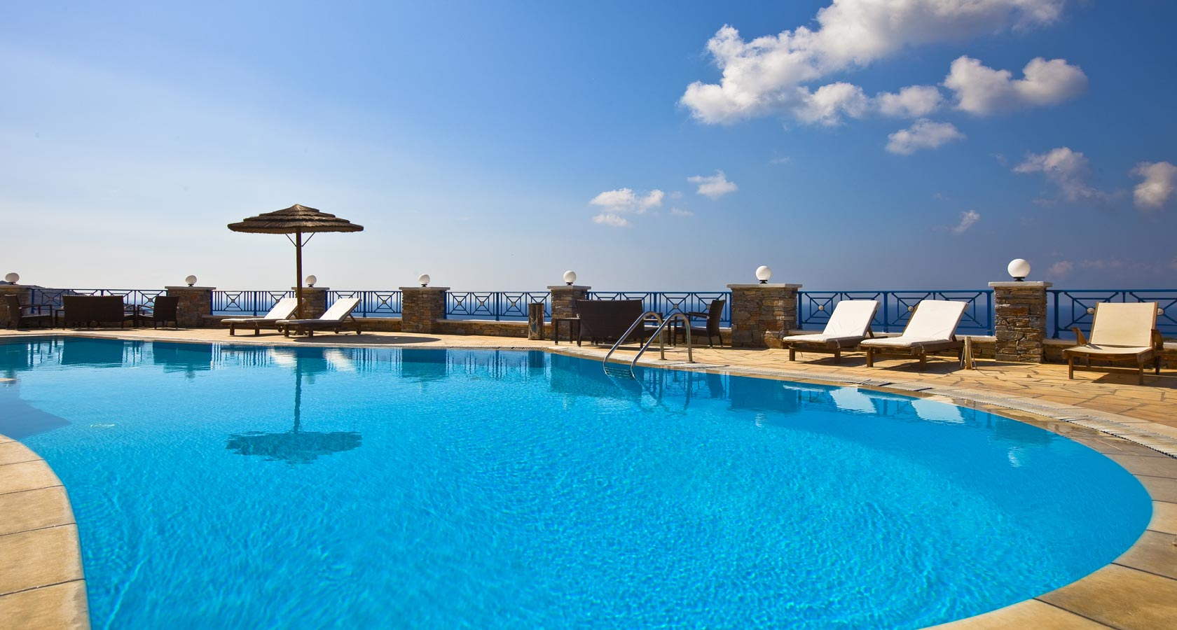 The Pool of Hermes Hotel in Ios island Greece